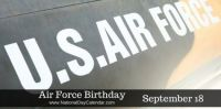 Today Is The Air Force Birthday!!