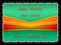 Happy Birthday dear Carolee (Okieclem)