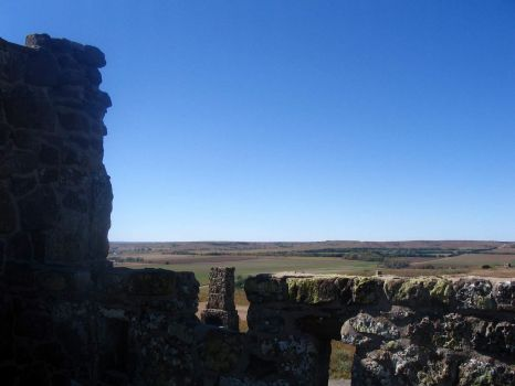 View From The Citadel On Coronado Heights Above Lindsborg, Kansas