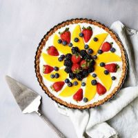 No bake greek yogurt fruit tart