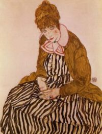 Edith Schiele, Seated - Edith Schiele, sedící - 1915