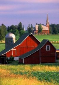 Barn, Silo & Church