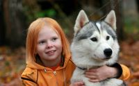 Red-girl-and-dog