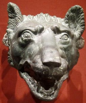 Wolf Head, 1-100 CE, Bronze, Roman  ~  Cleveland Museum of Art