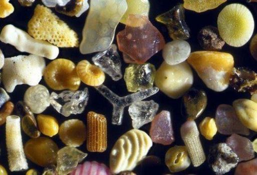 Sand magnified 250 times
