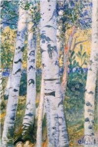 Carl Larsson - Birch Trees