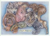 Steve Irwin animal collage