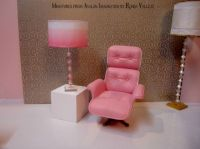 Barbie cube table and lamps