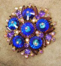Bright Blue Brooch