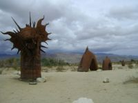 metal sculpture Borrego Springs