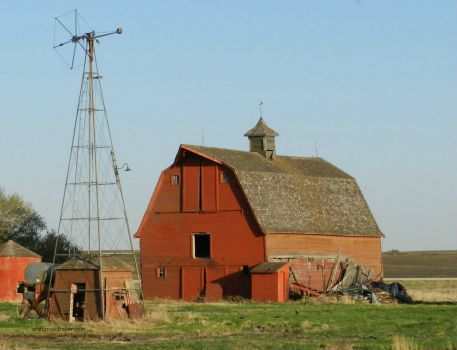 Prairie Barn and Windmill