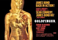 GOLDFINGER - JAMES BOND -1964 POSTER - SEAN CONNERY