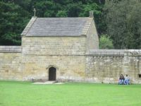 A restored monk cell at Mount Grace Priory, Northallerton, Yorkshire, England