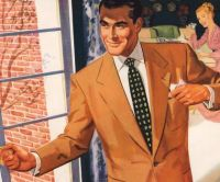 Detail from 1950 Eagle Clothes ad