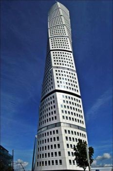 54-story twisting tower, Malmo, Sweden..