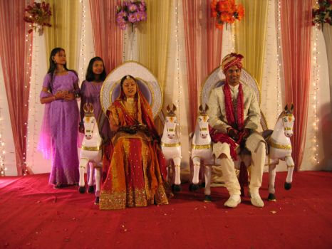 During my holiday in India we saw there a wedding