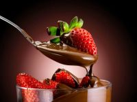 Dripping Chocolate And Strawberries