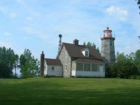 Windmill Point Lighthouse, Lake Champlain, Alburg, Vermont