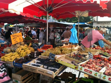 Saturday market in Cahors ( one for Jiggybelle! )