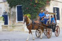 Horse drawn cart in Mdina