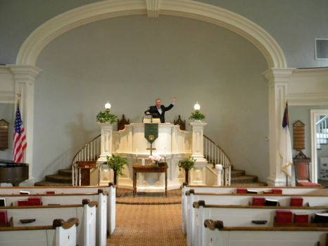 Federated Church of Castleton, VT - pulpit - designed by Thomas Dake, built 1833