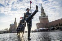Russian honor guards mark 77th anniversary of 1941 parade