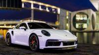 White Porsche 911 Turbo S