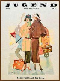 Vintage Magazine Cover - Jugend - 1924