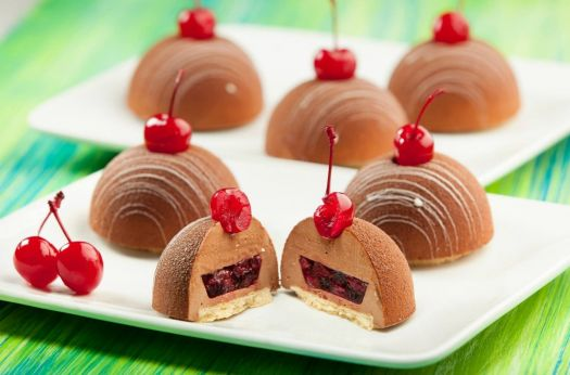 Chocolate Cherry Mousse Tarts