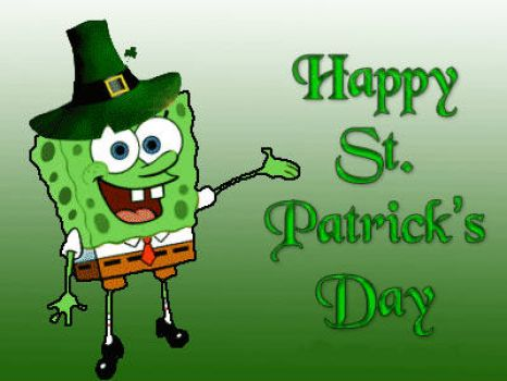 spongebob happy st patricks day