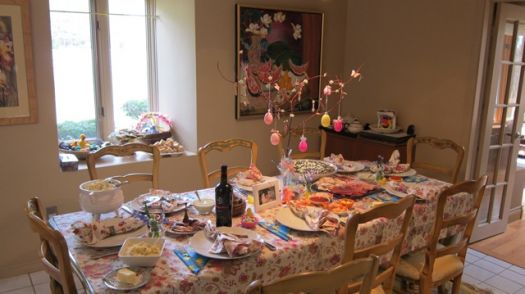 Last years Easter table