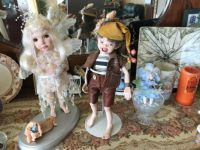 Porcelain dolls made and dressed by me.