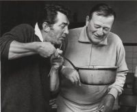Dean Martin and John Wayne cooking