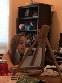 Talented granddaughter.