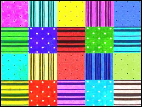 More stripes and dots, large