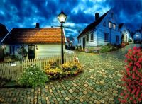 Cobblestone Neighborhood Street