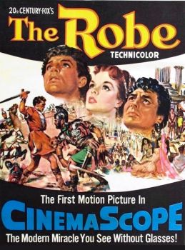 THE ROBE - 1953 POSTER CINEMASCOPE   RICHARD BURTON, JEAN SIMMONS,VICTOR MATURE