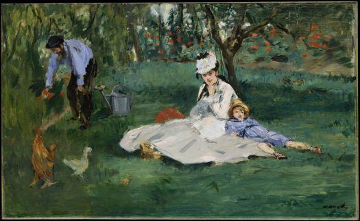 Monet Family in Their Garden