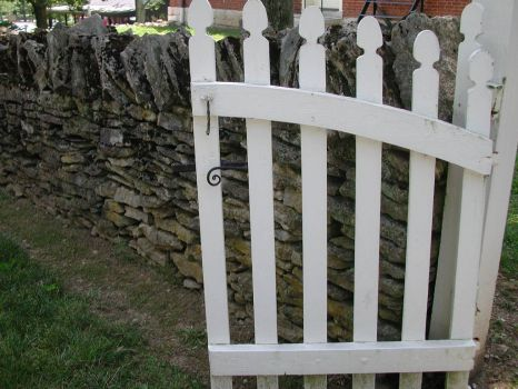 Gate and Stone Fence, Shakertown, KY