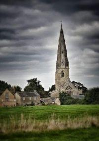 Olney Church with overcast sky