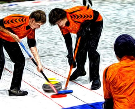 Phan Gogh like junior curlers in Tårnby Curling Club, Denmark