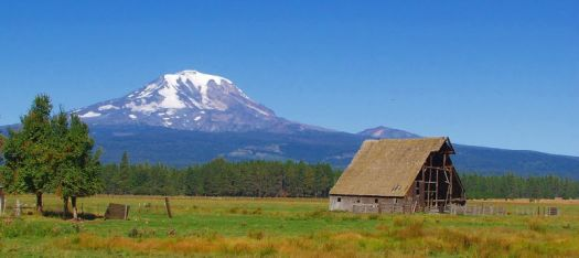 Mt Adams and Barn