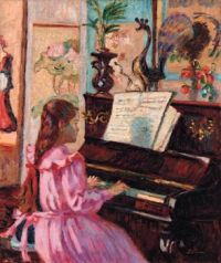 Armand Guillaumin (French, 1841–1927), Jeune Fille au Piano (1910)