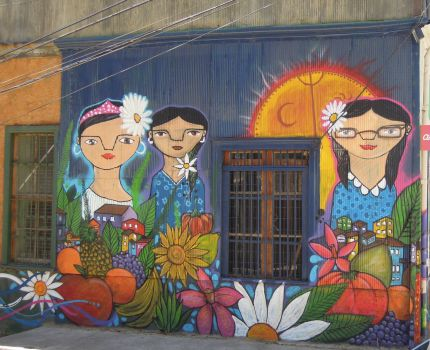 Unusual Wall Painting in Valparaíso, Chile