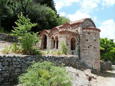 Ruins at Mystras, Greece