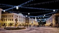 Winter in Tartu Town Hall Square