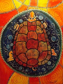 Native American Art-Turtle Island by Tamara Dalrymple