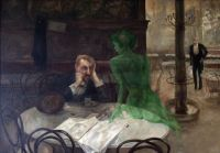 Absinthe #2 - The Absinthe Drinker by Viktor Oliva - second in a series