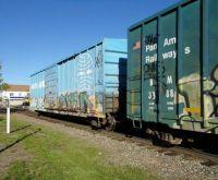 Pan Am box cars