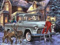 Santas Chevy pick up